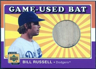 2001 Upper Deck Decade 1970's Game Bat #BBR Bill Russell