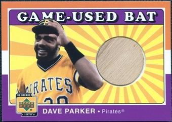 2001 Upper Deck Decade 1970's Game Bat #BDP Dave Parker