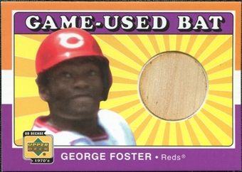 2001 Upper Deck Decade 1970's Game Bat #BGF George Foster