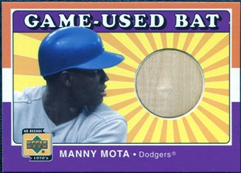 2001 Upper Deck Decade 1970's Game Bat #BMM Manny Mota