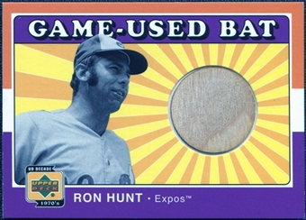 2001 Upper Deck Decade 1970's Game Bat #BRH Ron Hunt
