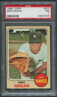1968 Topps Baseball #402 Mike Hegan PSA 7 (NM)