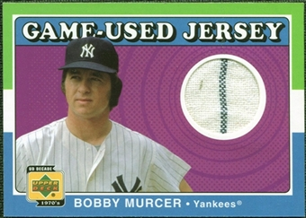 2001 Upper Deck Decade 1970's Game Jersey #JBM Bobby Murcer