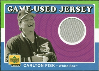 2001 Upper Deck Decade 1970's Game Jersey #JCF Carlton Fisk