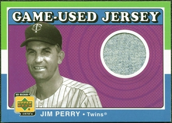 2001 Upper Deck Decade 1970's Game Jersey #JJP Jim Perry