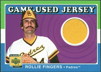 2001 Upper Deck Decade 1970's Game Jersey #JRF Rollie Fingers