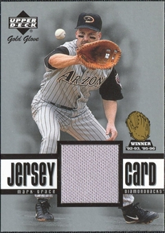 2001 Upper Deck Gold Glove Game Jersey #GGMG Mark Grace