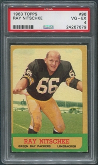 1963 Topps Football #96 Ray Nitschke Rookie PSA 4 (VG-EX)