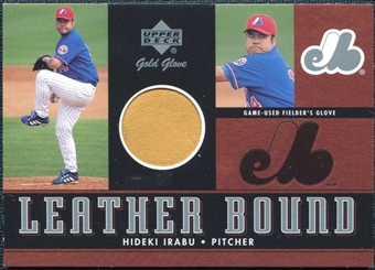 2001 Upper Deck Gold Glove Leather Bound #LBHI Hideki Irabu /100