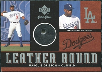 2001 Upper Deck Gold Glove Leather Bound #LBMG Marquis Grissom /100