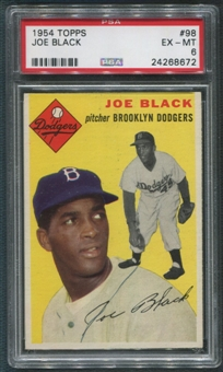 1954 Topps Baseball #98 Joe Black PSA 6 (EX-MT)