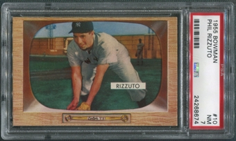 1955 Bowman Baseball #10 Phil Rizzuto PSA 7 (NM)
