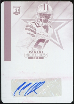 2014 Panini Contenders Printing Plates RC Anthony Hitchens 1/1 Autograph Dallas Cowboys