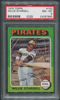 1975 Topps Baseball #100 Willie Stargell PSA 8 (NM-MT)