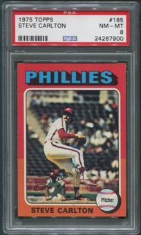 1975 Topps Baseball #185 Steve Carlton PSA 8 (NM-MT)