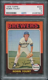 1975 Topps Baseball #223 Robin Yount Rookie PSA 5 (EX)