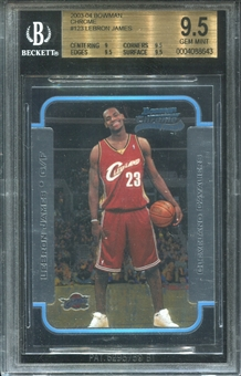 2003/04 Bowman Chrome #123 LeBron James Rookie RC Cavaliers BGS 9.5 GEM MINT
