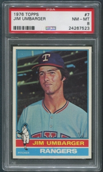 1976 Topps Baseball #7 Jim Umbarger Rookie PSA 8 (NM-MT)