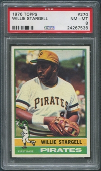 1976 Topps Baseball #270 Willie Stargell PSA 8 (NM-MT)