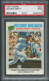 1977 Topps Baseball #231 George Brett Record Breaker PSA 9 (MINT)