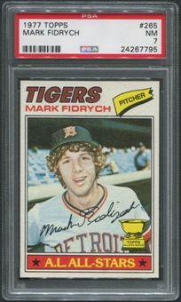 1977 Topps Baseball #265 Mark Fidrych Rookie PSA 7 (NM)