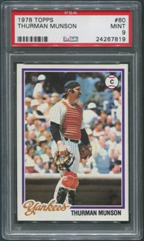 1978 Topps Baseball #60 Thurman Munson PSA 9 (MINT)