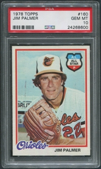 1978 Topps Baseball #160 Jim Palmer PSA 10 (GEM MT)