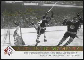 2012/13 Upper Deck SP Authentic Limited Autographs #152 Bobby Orr Authentic Moments A