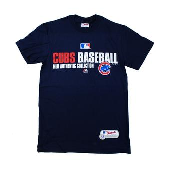 Chicago Cubs Majestic Navy Team Favorite Tee Shirt (Adult S)
