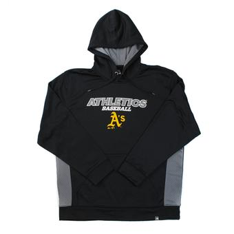Oakland Athletics Majestic Black Rookie Phenom Performance Fleece Hoodie (Adult XL)