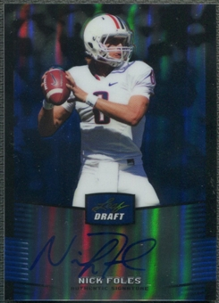2012 Leaf Metal Draft #NF1 Nick Foles Prismatic Blue Rookie Auto #03/25