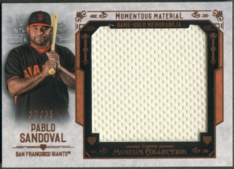 2015 Topps Museum Collection #MMJRPSA Pablo Sandoval Copper Momentous Material Jumbo Jersey #23/35