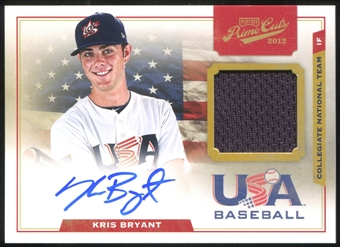 2012 Prime Cuts USA Baseball Collegiate National Team Game Jersey Signatures #2 Kris Bryant /199