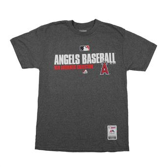 Los Angeles Angels Majestic Grey Team Favorite Tee Shirt (Adult M)