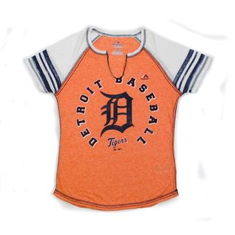 Detroit Tigers Majestic Orange More Than Enough Tee Shirt (Womens M)