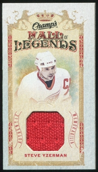 2009/10 Upper Deck Champ's Hall of Legends Memorabilia #HLSY Steve Yzerman