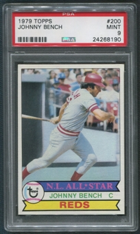 1979 Topps Baseball #200 Johnny Bench PSA 9 (MINT)