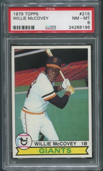 1979 Topps Baseball #215 Willie McCovey PSA 8 (NM-MT)