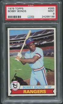 1979 Topps Baseball #285 Bobby Bonds PSA 9 (MINT)