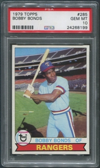 1979 Topps Baseball #285 Bobby Bonds PSA 10 (GEM MT)