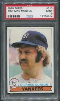 1979 Topps Baseball #310 Thurman Munson PSA 9 (MINT)