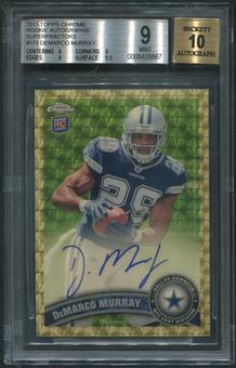 2011 Topps Chrome #173 DeMarco Murray Rookie Superfractor Auto #1/1 BGS 9 (MINT)