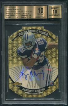 2011 Finest #FARDM DeMarco Murray Atomic Refractor Rookie Superfractor Auto #1/1 BGS 10 (PRISTINE)