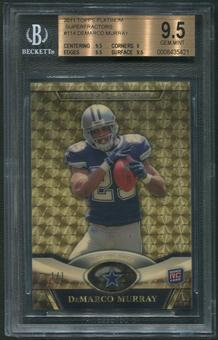 2011 Topps Platinum #114 DeMarco Murray Rookie Superfractor #1/1 BGS 9.5 (GEM MINT)