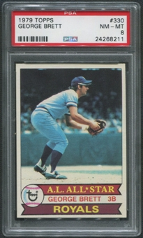 1979 Topps Baseball #330 George Brett PSA 8 (NM-MT)