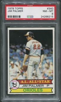 1979 Topps Baseball #340 Jim Palmer PSA 8 (NM-MT)