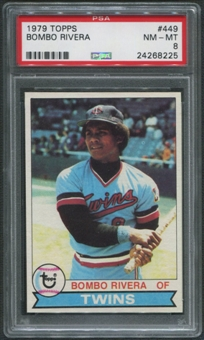 1979 Topps Baseball #449 Bombo Rivera PSA 8 (NM-MT)