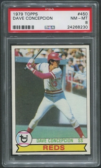 1979 Topps Baseball  #450 Dave Concepcion PSA 8 (NM-MT)