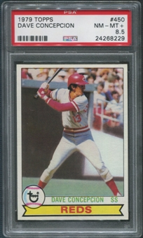 1979 Topps Baseball  #450 Dave Concepcion PSA 8.5 (NM-MT+)