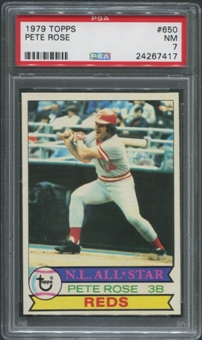 1979 Topps Baseball #650 Pete Rose PSA 7 (NM)